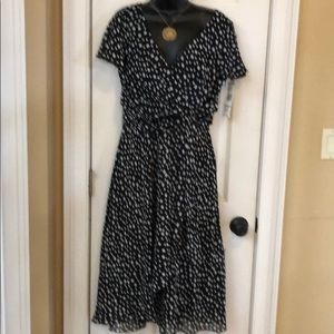 NWT Evan Picone 12 Blk/wht Dress
